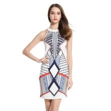 175b5fa33a2 Women s wear new popularity hot style round neck with a few body print  patterned dresses