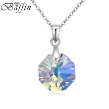 -Baffin Fashion Geometric Shape Real Crystal From Swarovski Element Pendant Necklace For Women Wedding Jewelry Gift on JD