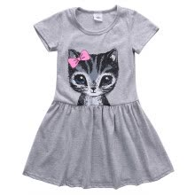 -Cute Cat Lovely Toddler Baby Girls Princess Dress Party Kids Tulle Tutu Dress on JD