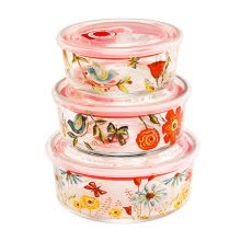 8750201-A Ting Food Storage Container Lunch Box Set of 3 on JD