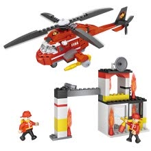 -(COGO) new city series of building blocks of fire ambulance multi-rescue package children's puzzle three-dimensional fight assembled enlightenment toys 617 4142 on JD