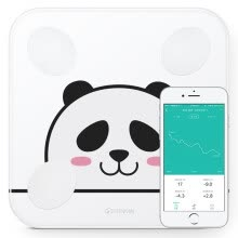 875072528-Yunma (YUNMAI) good light mini2Q panda version of the smart body fat scale home weight loss program reference recommended electronic scales fat scales 14 body data Bluetooth connection APP control on JD