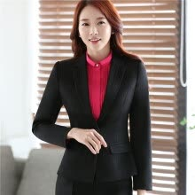 suiting-blazers-Women Long Sleeve Slim Fitted Work Suit Blazer Office Jacket 2017 Winter Spring Autumn OL Elegant Outwear Top Blszer Plus Size on JD