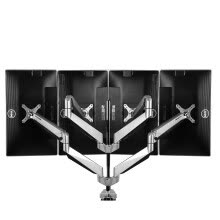 monitor-holders-Loctek Quad-arm Monitor Mount Four Arm Gas Spring Desk Top Mount Fits 10-27'' Monitors  on JD