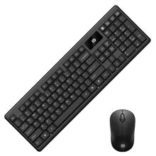 keyboards-Fude 1600 wireless keyboard and mouse suit keyboard and mouse classic game office home laptop desktop computer suite black on JD
