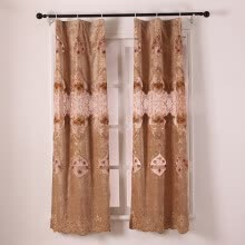 -1PC 100X200CM  European Gloden Royal Luxury Curtains for Bedroom Window Curtains for Living Room Elegant Blinds Drapes Lace Curtai on JD