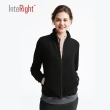 875061819-INTERIGHT Women Polar Fleece Lapel Sweater Casual Jacket on JD