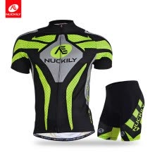 -NUCKILY cycling jersey and shorts summer quick dry sublimated set for men on JD
