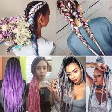 hair-braids-szc Afro Jumbo Braids Hair Extensions 5-pack 2 Tone & 3 Tone Ombre Crochet Braiding Hair High Temperature Kanekalon Synthetic on JD
