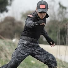 8750510-Military Uniforms Army Black Clothing Men Tactical Pants With Knee Pads Uniforme Militar Combat CS Tatico Clothes Fardas Militar on JD