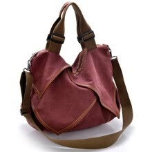 875062576-AEROLINE®Casual canvas shopping bag woman patchwork hobo shoulder messenger bags extra large tote bag for ladies vintage handbag on JD