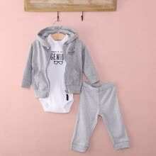 -Casual Newborn 6 9 12 18 Months Cardigan Pant Set Baby Boy Outfit Clothes Gray on JD