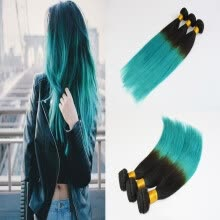 -Ombre Human Hair Extensions Of Tape Ombre Color 3Pcs/Lot Straight Hair Skin Weft Remy Hair on JD