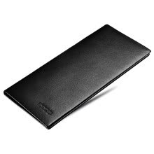 -Bopai long wallet men's ultra-thin wallet suede leather business casual fine lines tide black 715-006851 on JD