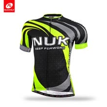 -NUCKILY Men's Summer road buke wear UPF 40+ Full sublimation Fast Wicking cycling Short Sleeve Jersey on JD