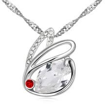 -Austrian Crystal Pendant Rabbit Necklace For Women Fashion Jewelry Anniversary Gift Female High Quality Bijoux .12865 on JD