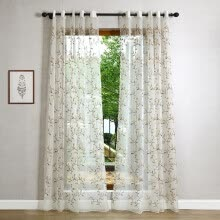 8750202-2016 Rural/Pastoral Chiffon Sheer Curtain Home Villa Window Decor Screen Luxury Fashion Leaf Embroidered Tulle Bedroom Curtains on JD