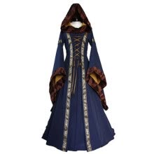 b3ee680b86d Vintage Style Renaissance Womens Costume Medieval Maiden Halloween Fancy  Cosplay Over Dress